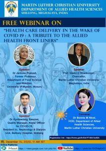 Webinar on Healthcare Delivery in the Wake of Covid-19: A tribute to the Allied Health frontliners